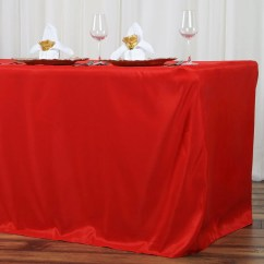 Cheap Chair Covers And Linens Best For Nursery 8ft Fitted Red Wholesale Polyester Table Cover Wedding