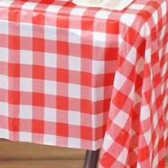 Disposable Plastic Chair Covers For Parties Lightweight Portable 54 Quot X 72 Checkered Vinyl Picnic