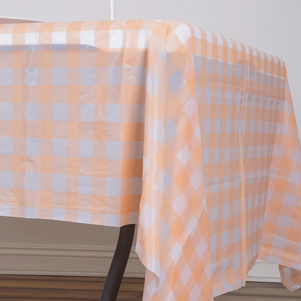 54x108 Blush Wholesale Disposable Waterproof Checkered