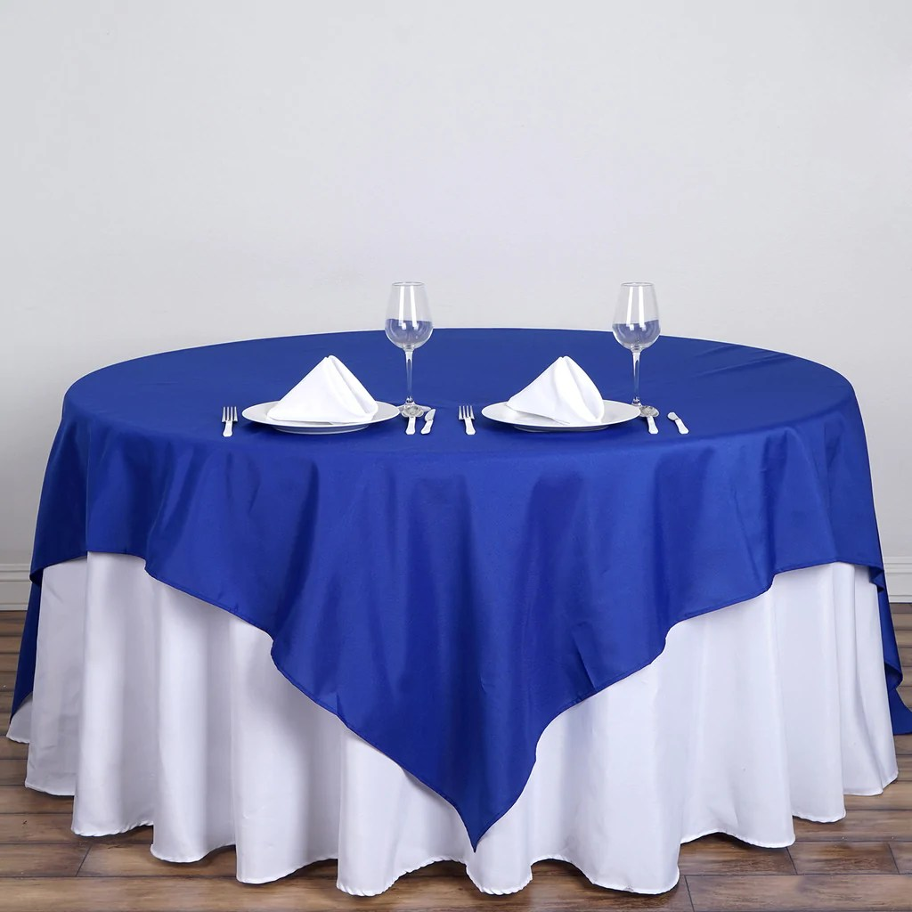 Royal Blue 90 Square Tablecloth  TableclothsFactorycom