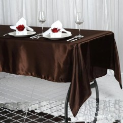 Party Chair Covers Walmart Comfortable Lounge 60x102 Quot Chocolate Satin Rectangular Tablecloth