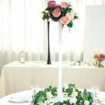 6 Pcs White Eiffel Tower Vase 28 Tall Wedding Party