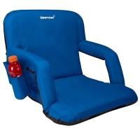 Padded Folding Reclining-Back Bleacher Seat Stadium Chair ...