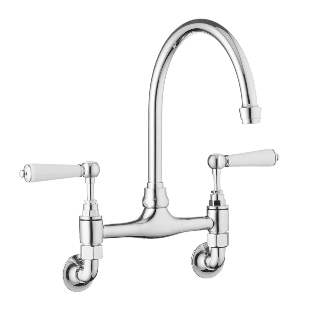 traditional wall mounted kitchen taps