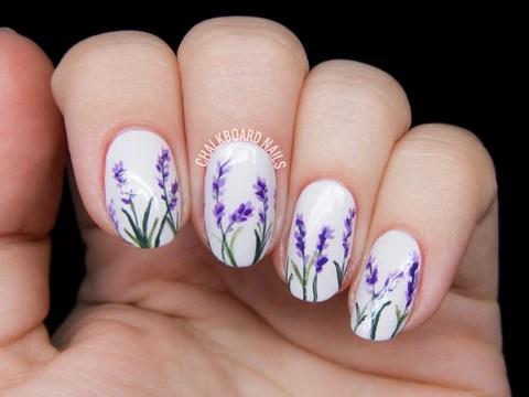 top 100 spring floral nail design