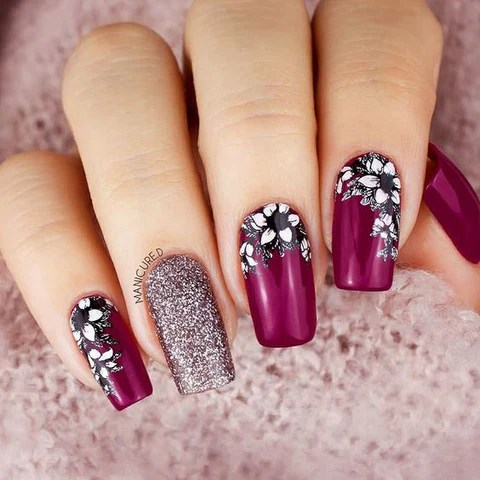 hottest 80 cute fall nail design