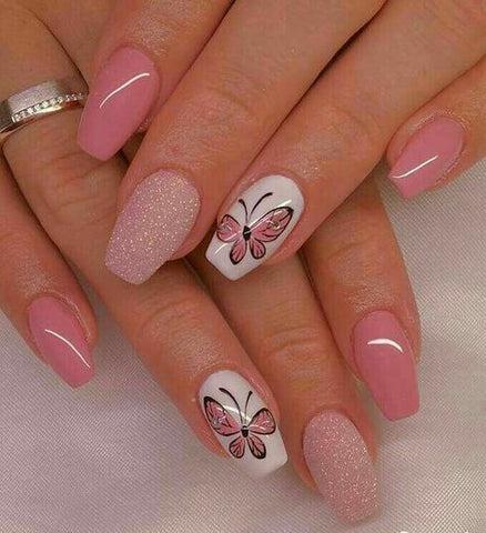 butterfly nail art design 2018