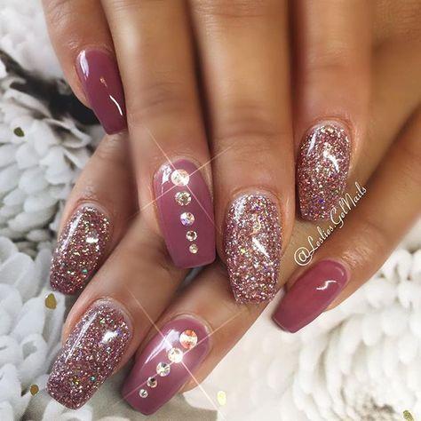 glitter nail art design 2018
