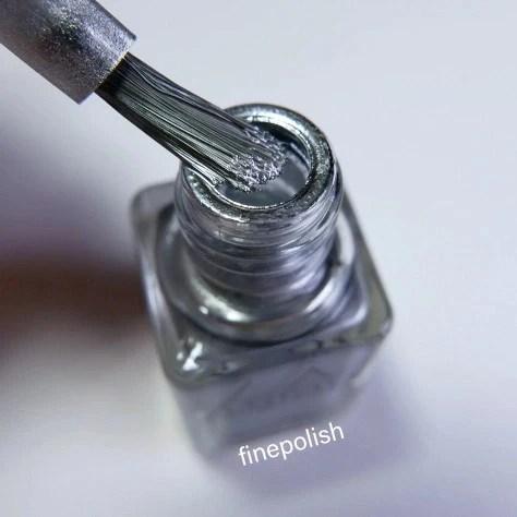 silver metallic mirror nail polish