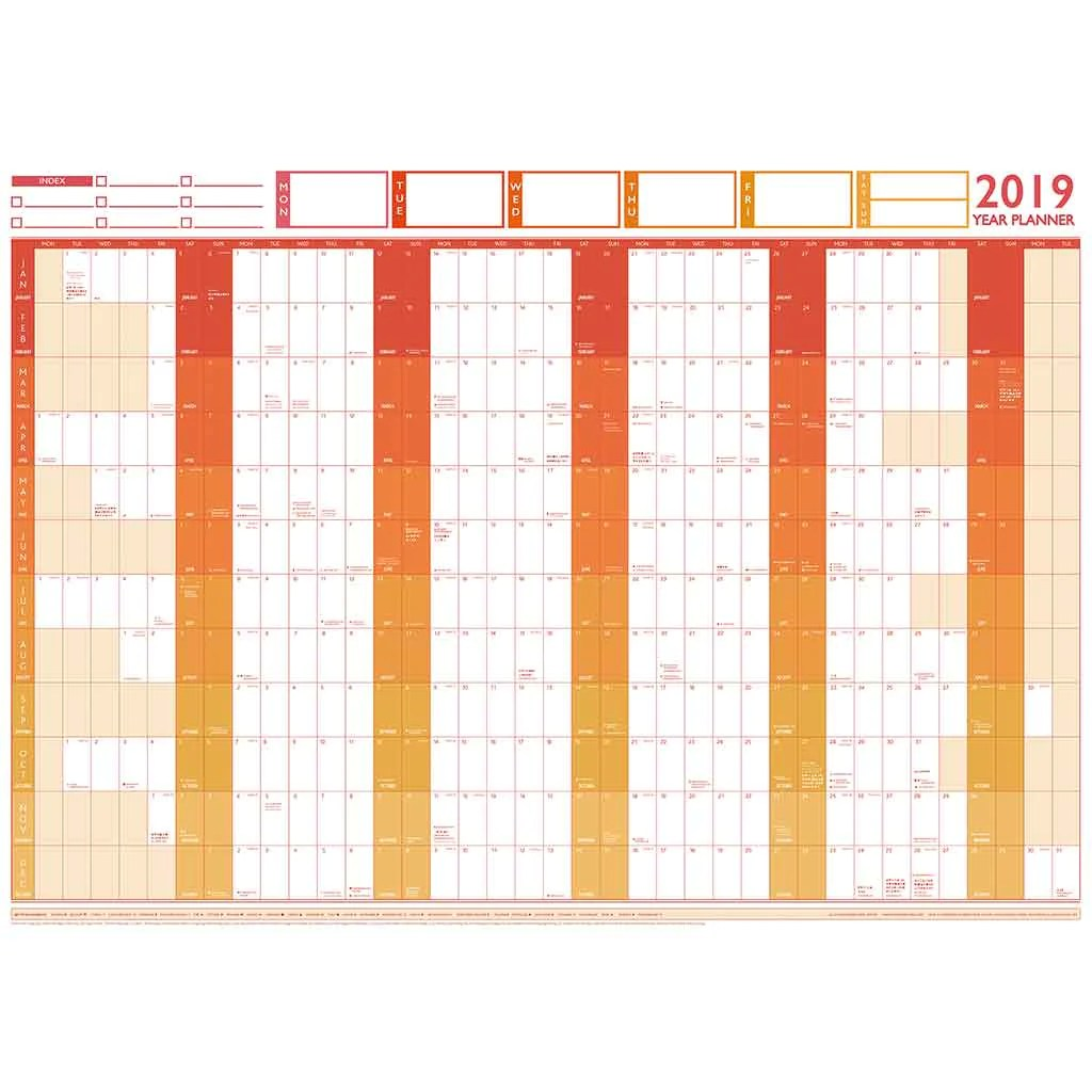 Large year wall chart  holiday planner also and rh mapmarketing