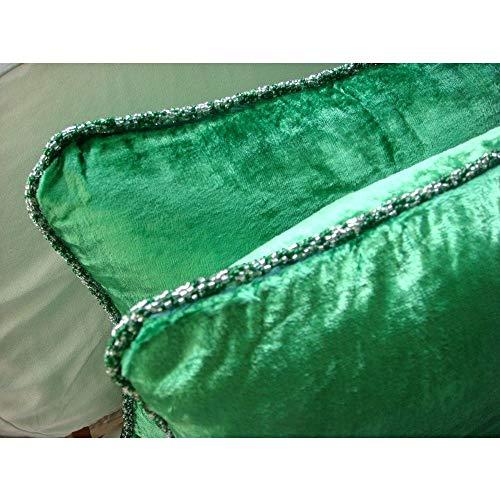 the homecentric decorative emerald green euro shams 26x26 inch velvet homeloft us