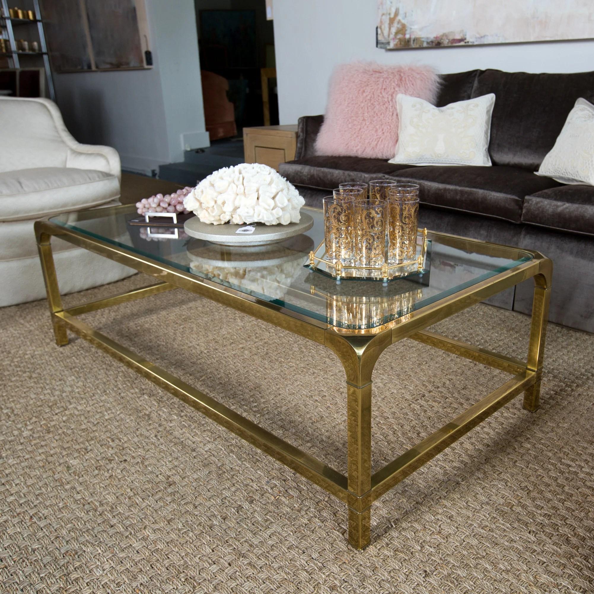 mastercraft brass glass coffee table park eighth
