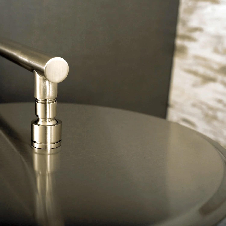 Dax Round Rain Shower Head Ultra Thin Brass Body Brushed Nickel Finish D 1230 Bn