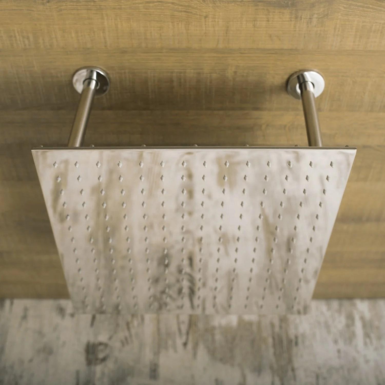 Dax Ceiling Mounted Square Rain Shower Head Ultra Thin Brass Body Chrome Finish D 114040b Cr