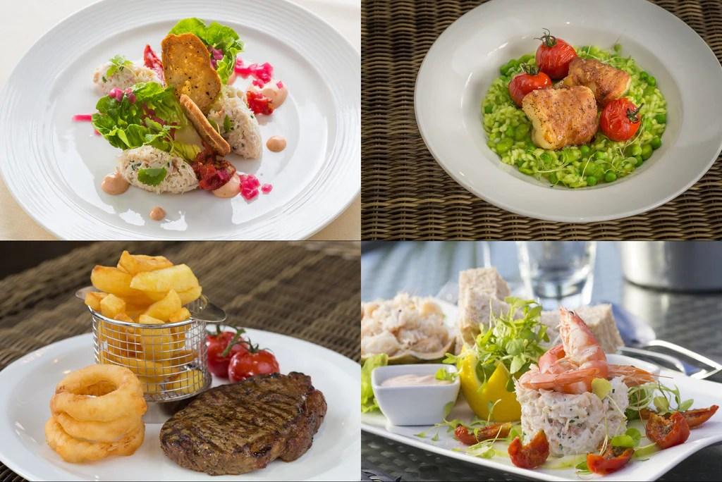 menus cobo bay hotel
