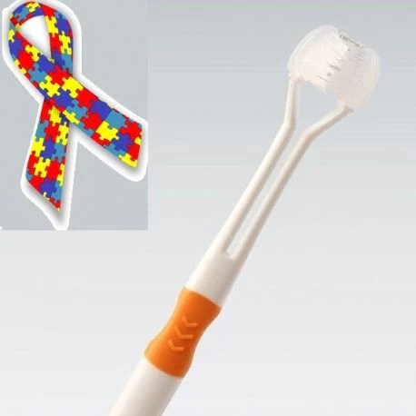 Three Sided Toothbrush for Autism  Special Needs  Different Not Less