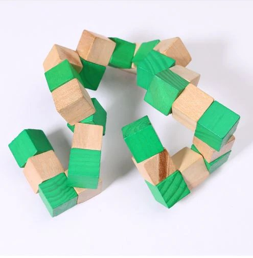 Wooden Snake Puzzle Fidget Toy Different Not Less
