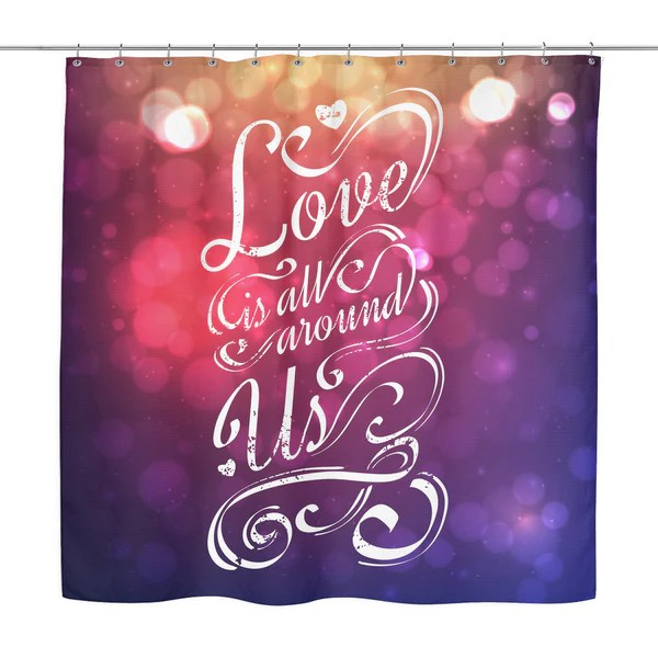 Quote Shower Curtain