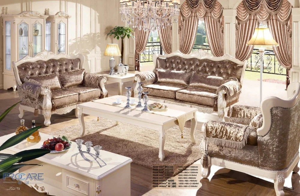 sofa set living room open kitchen decorating ideas european style brown armchair furniture modern fabric couch prices