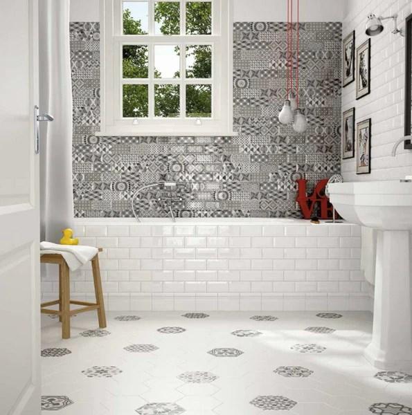 encaustic effect bathroom tiles