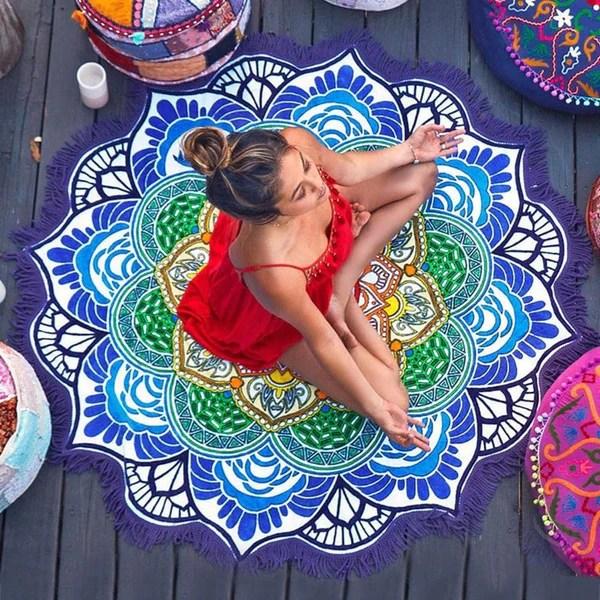 Mandala Meditation Mat  Crystals Are Cool