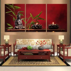 Paintings For Living Room Different Styles 3 Pieces Large Buddha Canvas Print Painting Home Decor Wall Art Picture Modular