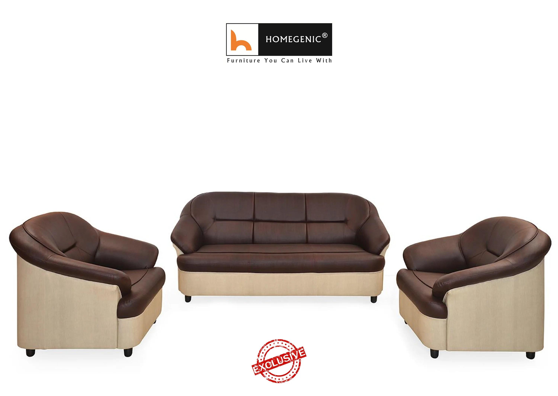 manhattan five seater sofa set 3 1 brown reclining sofas cheap nilkamal full leatherite knight 431