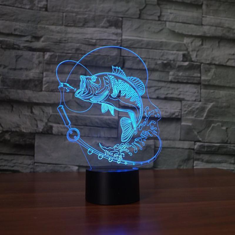 3D LED Fish Hologram Lamp  BuyGearNow