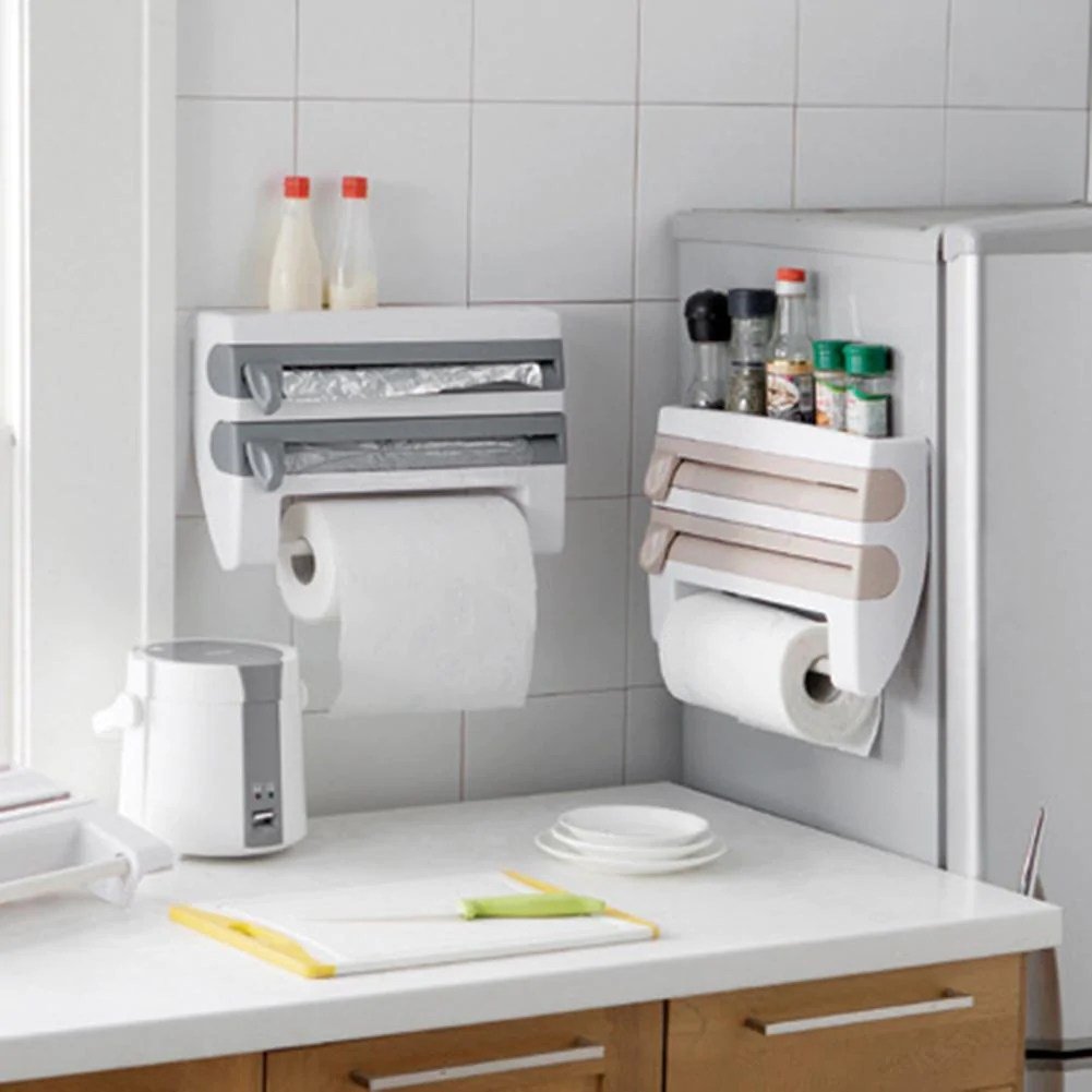 kitchen caddy pub table 4 in 1 roll holder dispenser buygearnow