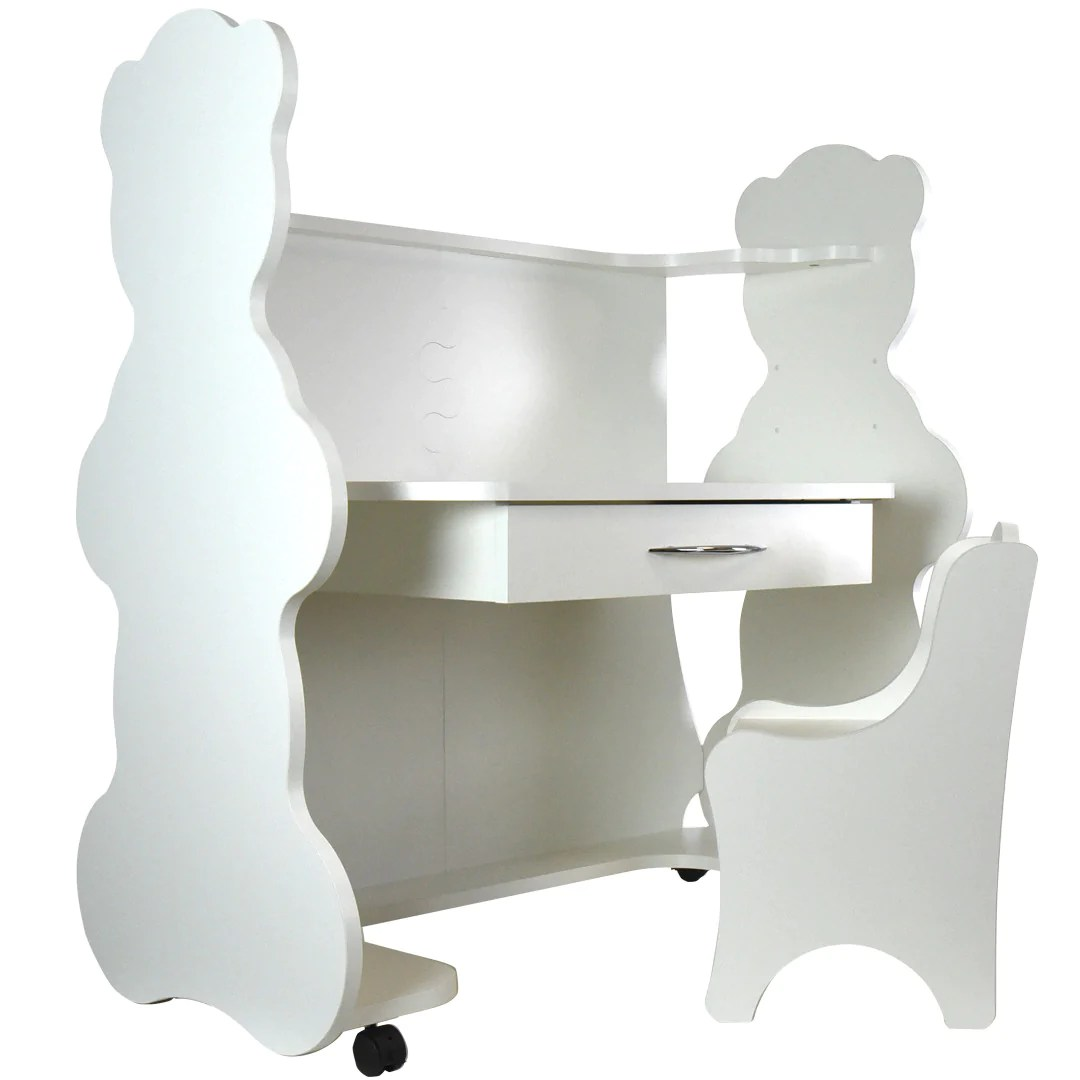 Height Adjustable Chair Mobile Height Adjustable Desk Bear White With Chair