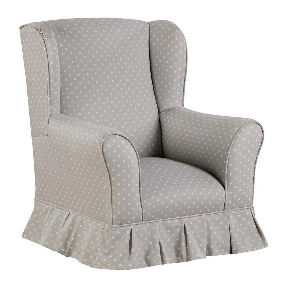 Wing Chair Willow Juvenile Skirted Wing Chair