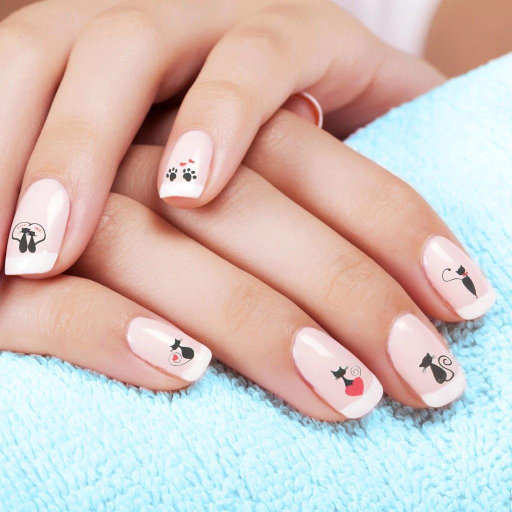 black cat nail art stickers thepurrshop