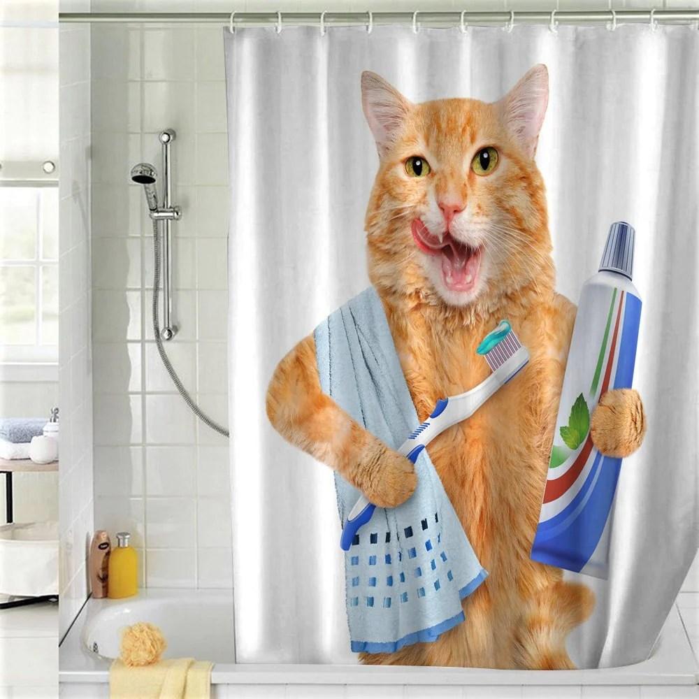 cat shower curtains