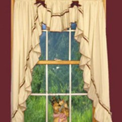Swag Curtains For Kitchen Lowes White Sink Top 5 Country Curtain Ideas Window Toppers