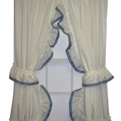 Country Kitchen Chair Cushions Pewter Faucet Lucy Ruffled Priscilla Window Curtains With Banded ...