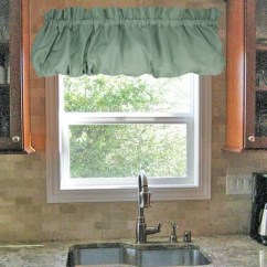 Kitchen Window Valances Curtain For Stacey Solid Color Balloon Valance Toppers