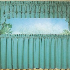 Swag Kitchen Curtains Drawer Handles Stacey Solid Color Ruffled Swags Pair Window Toppers