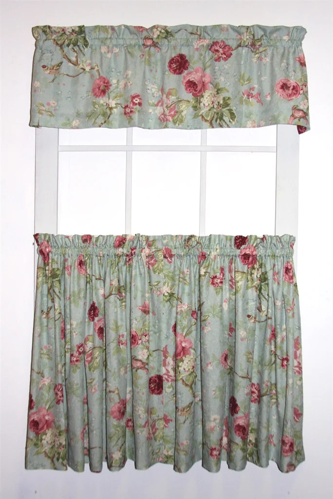 Balmoral Gardens Floral Print Tailored Tiers  Valance