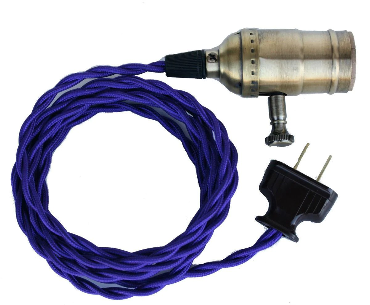 dimmer switch extension cord land rover discovery radio wiring diagram vintage pendant lighting violet twisted lamp