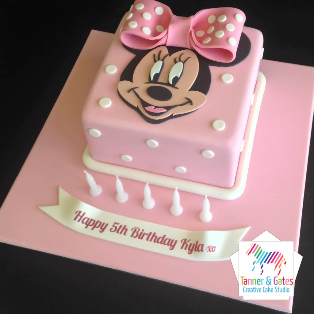 Minnie Mouse Birthday Cake Tanner Gates