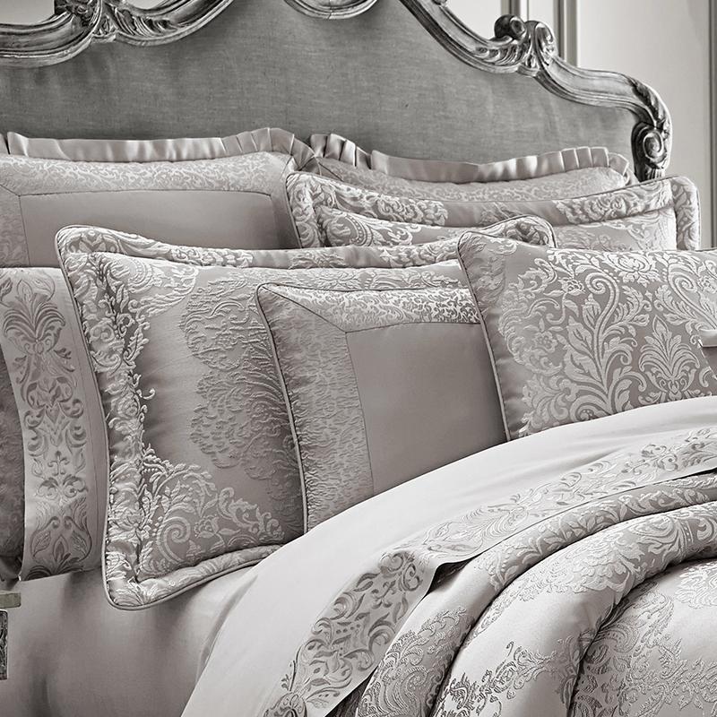 lascala silver 4 piece comforter set