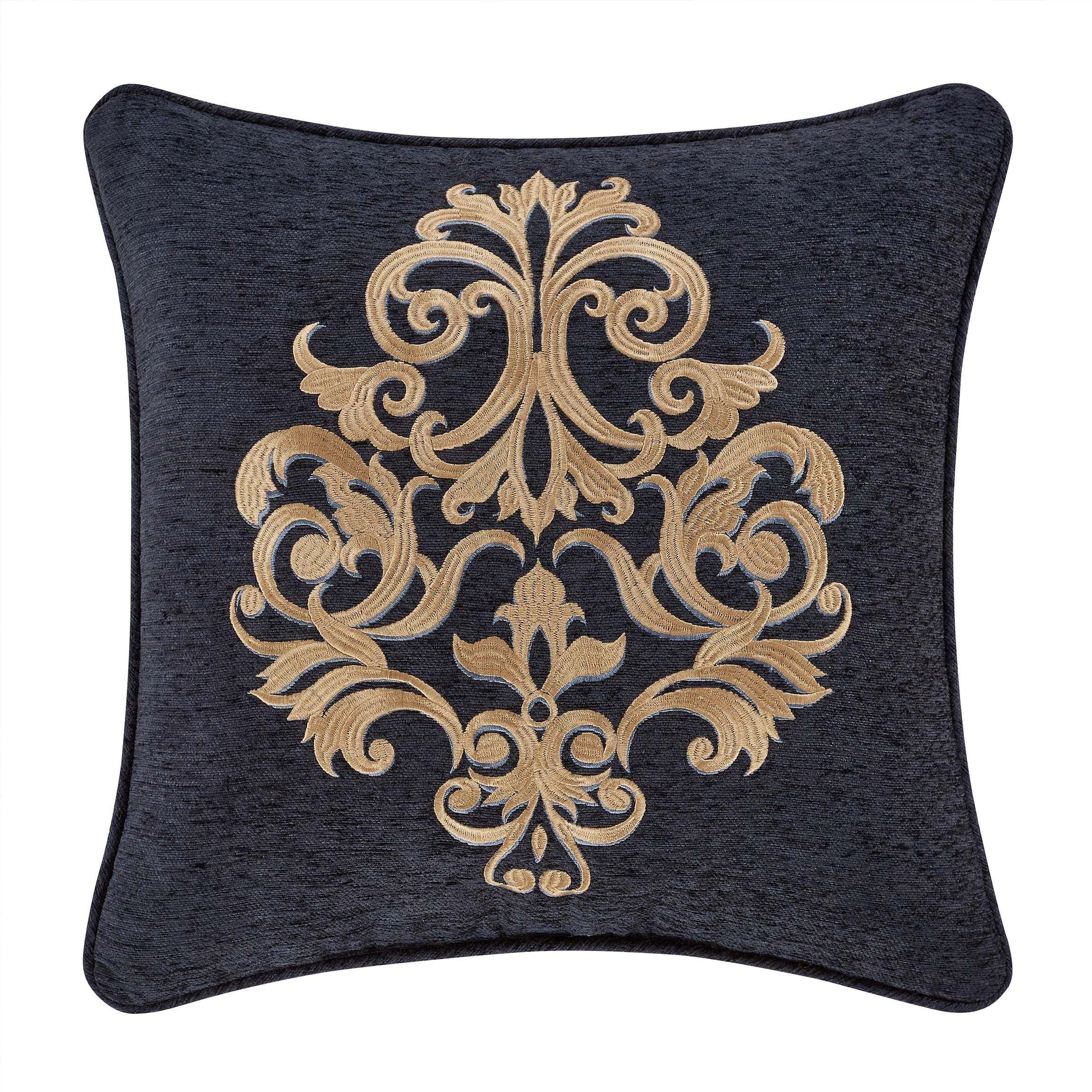luciana indigo square throw pillow 18