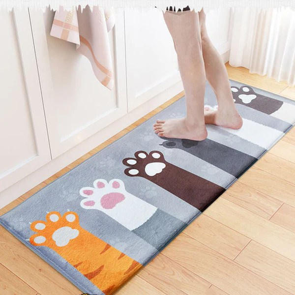 kitchen carpets ninja system pulse welcome floor mats animal cat printed bathroom 99fab com