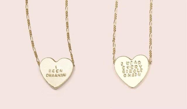 Erica Weiner's heart necklaces