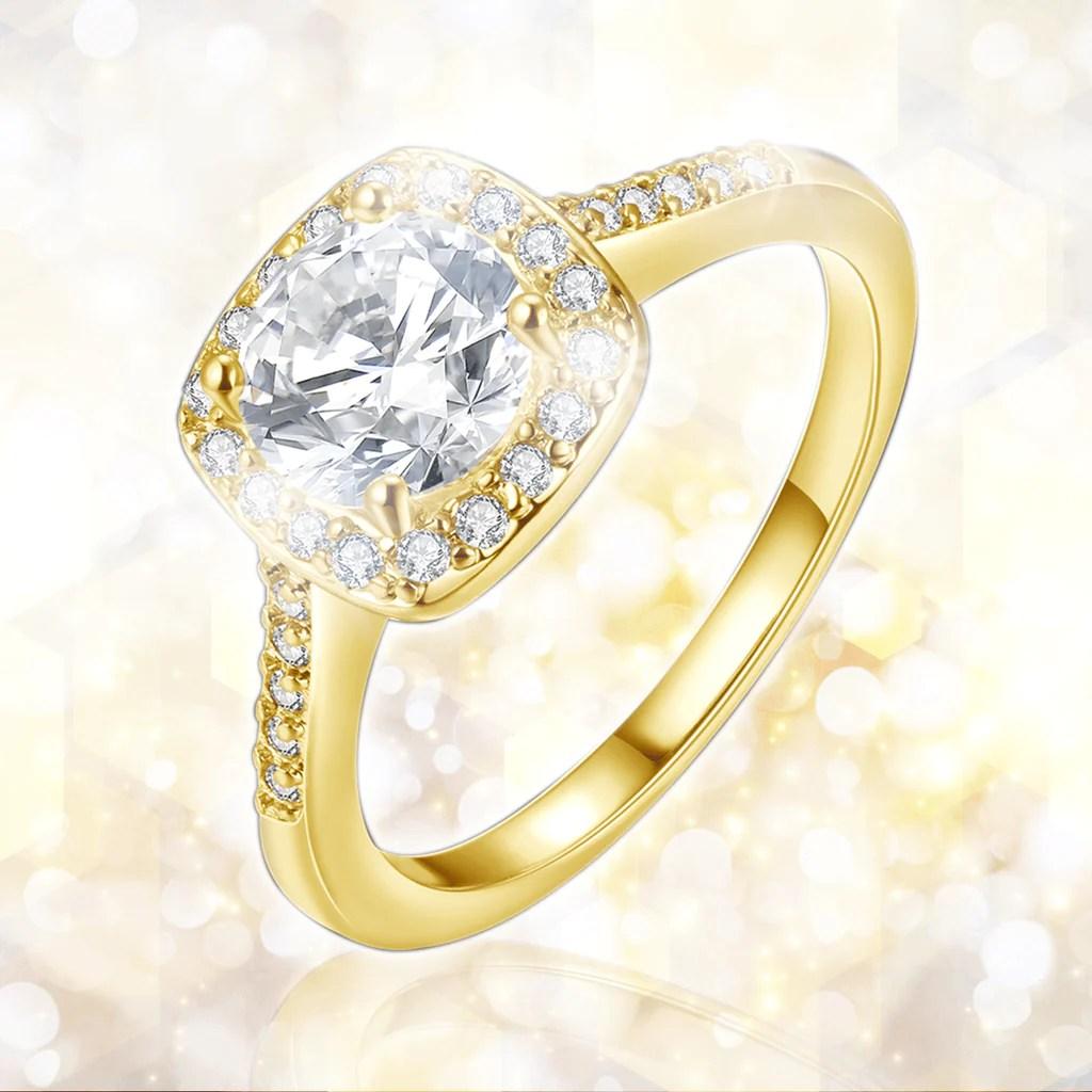 April Diamond Gold Filled Ring