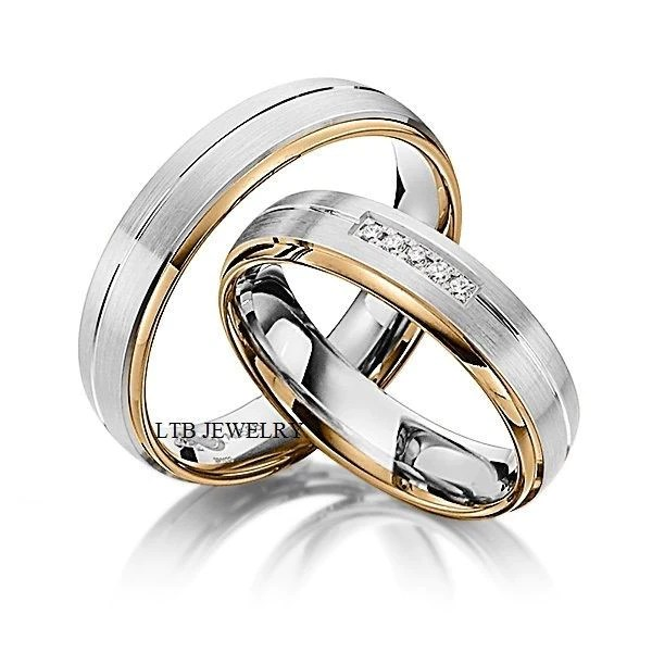 His And Hers Wedding Rings10K Two Tone Gold Matching