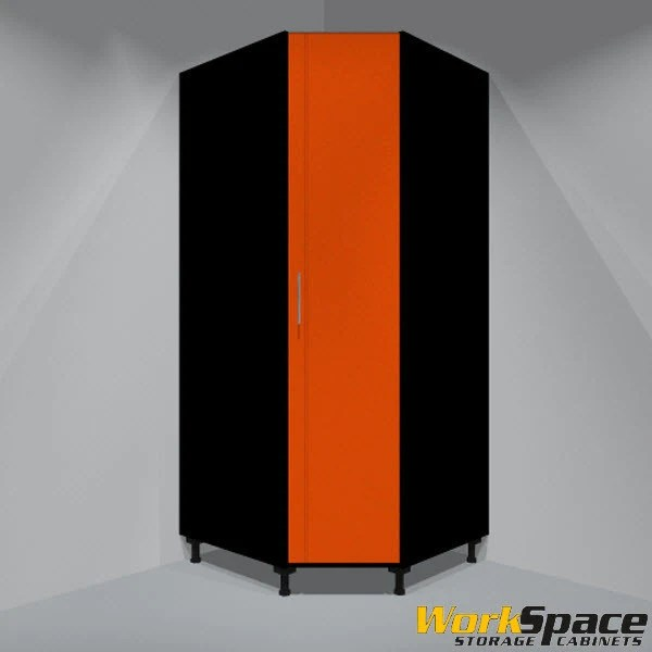 Tall Corner Garage Cabinet 1 Door Right Swing 3 Adj Shelves 35 1 2 Garagecabinets Com
