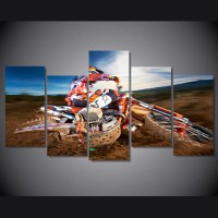 Motocross Supercross Multi Panel Canvas Wall Art  Mighty ...