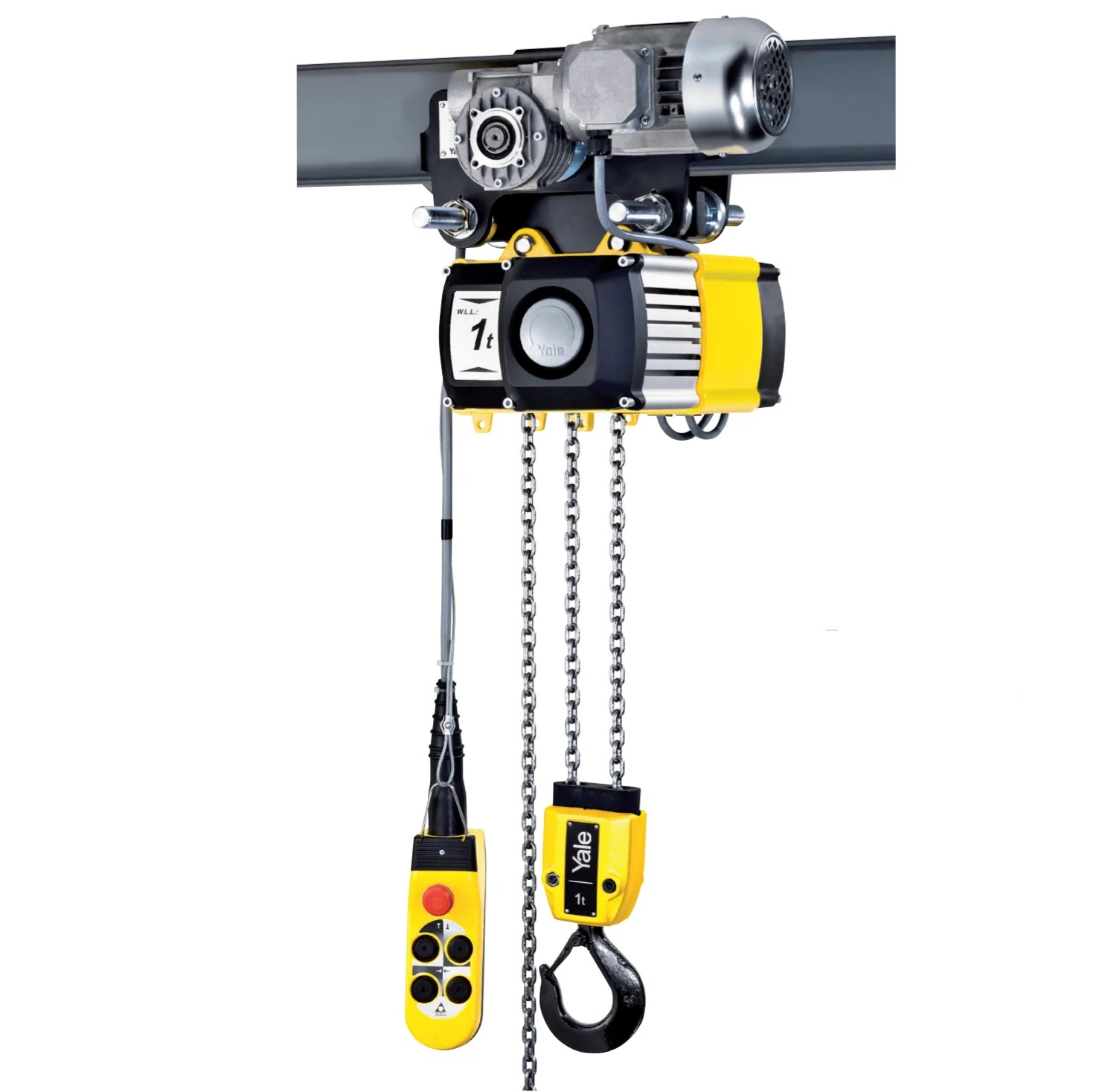 small resolution of  yale electric chain hoist 1 ton 8m min cpv cpvf