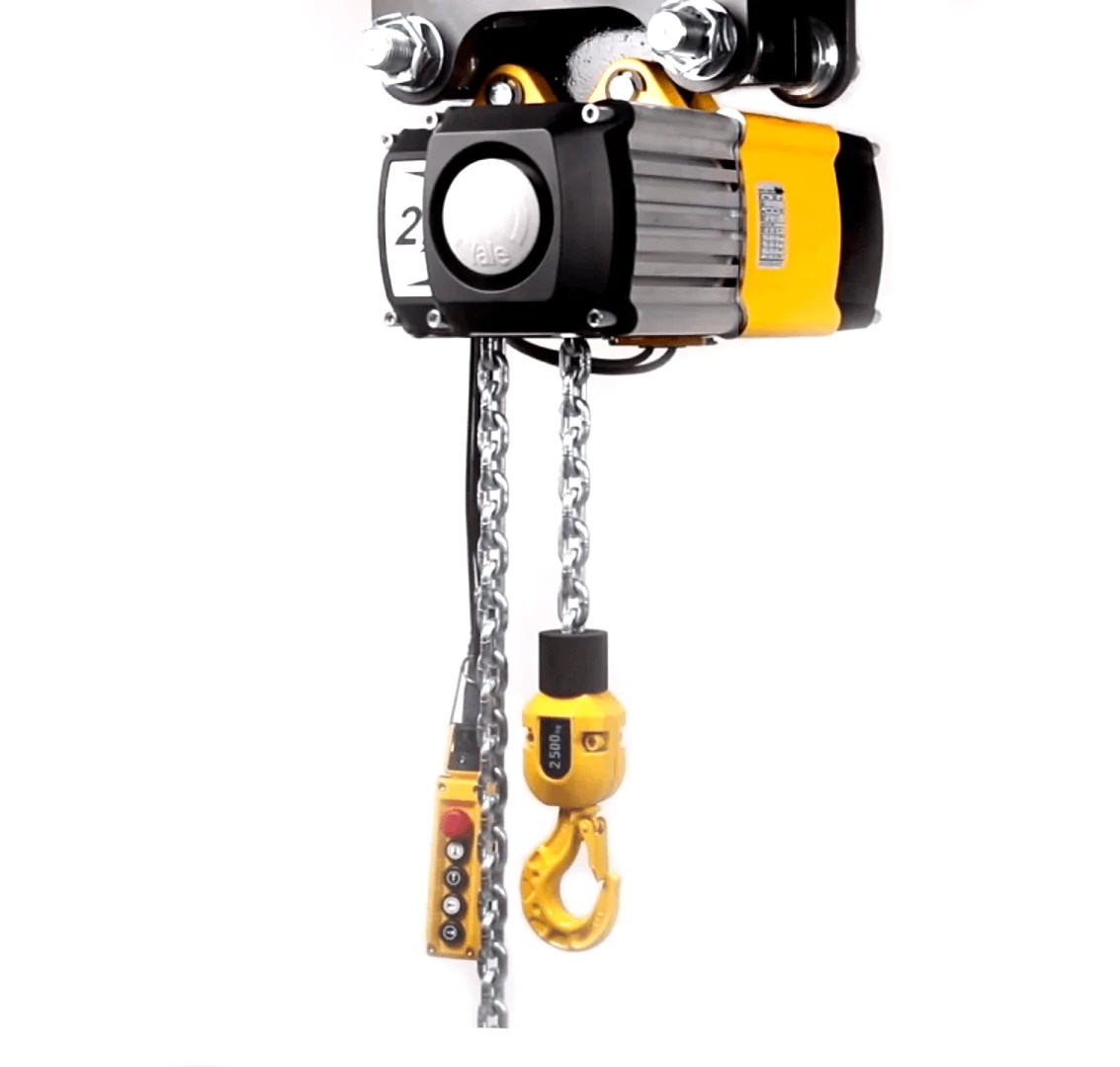 medium resolution of  yale electric chain hoist 2 ton 4m min cpv cpvf